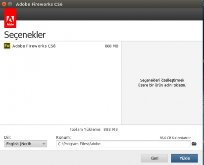 Ubuntu – Adobe Fireworks CS6 Kurulum