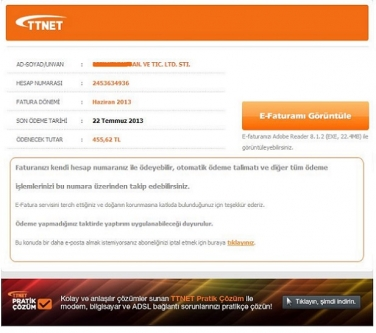 (CryptoLocker) TTNET Faturası taklidi ile gelen mail virüsü (UYARI)